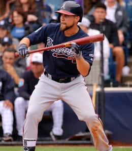 Ender Inciarte could see a reduced role for the Atlanta Braves this year.