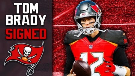 Tom Brady is now with the Tampa Bay Buccaneers.