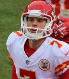 Harrison Butker was actually drafted before winding up with the Kansas City Chiefs.