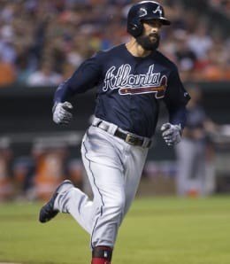 Nick Markakis may get squeezed for PT with the Atlanta Braves.