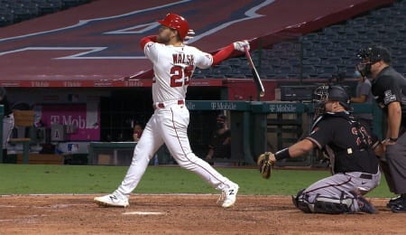 Jared Walsh is on fire for the Los Angeles Angels.