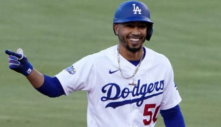 Mookie Betts helped the Los Angeles Dodgers win the World Series.