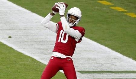 DeAndre Hopkins keeps lighting it up for the Arizona Cardinals.