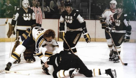 Jerry Rollins played with some great players in the World Hockey Association.