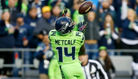 DK Metcalf is fast, mean and strong for the Seattle Seahawks.
