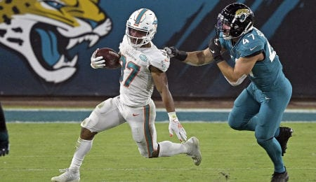 Myles Gaskin made a triumphant return to the Miami Dolphins.