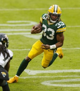 Aaron Jones will drive the Green Bay Packers in the Divisional Round.