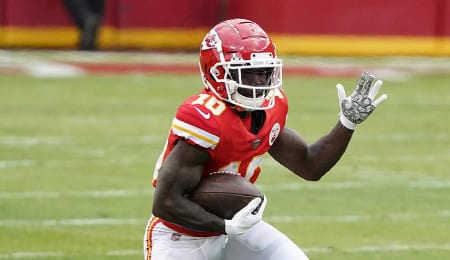 Tyreek Hill scored a crapload of touchdowns for the Kansas City Chiefs this season.