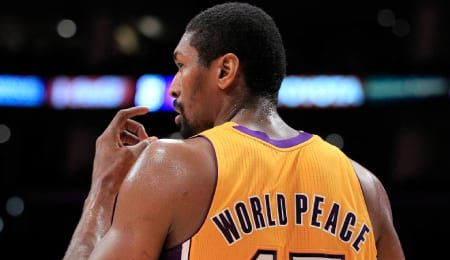 Metta World Peace was a champion with the Los Angeles Lakers.