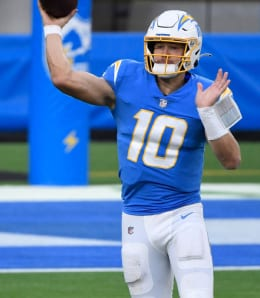 Justin Herbert will try to get the Los Angeles Chargers to the playoffs in his sophomore season.
