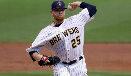 Brett Anderson has been pitching well for the Milwaukee Brewers.